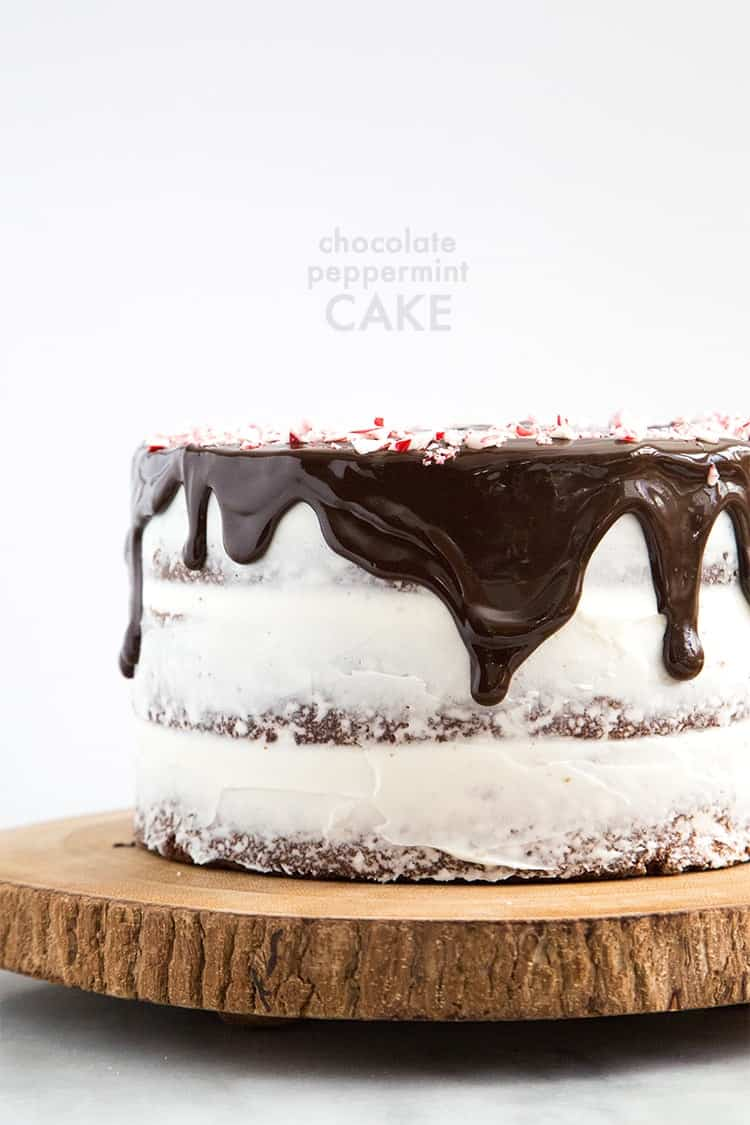 Chocolate mint meltaway cake