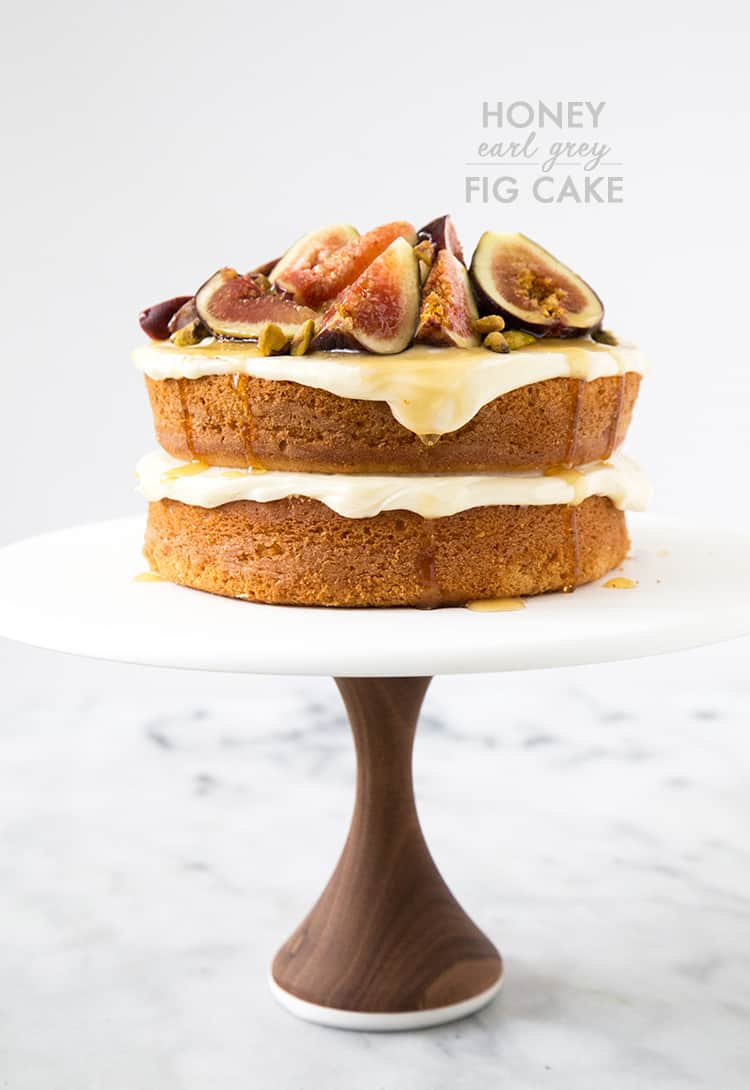 Earl Grey Cake With Honey Vanilla Cream