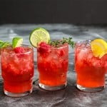 Sparkling Blackcurrant Raspberry Mocktail made with SodaStream #WaterMadeExciting #CollectiveBias