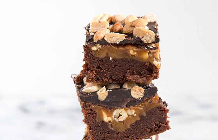 Peanut Caramel Brownies