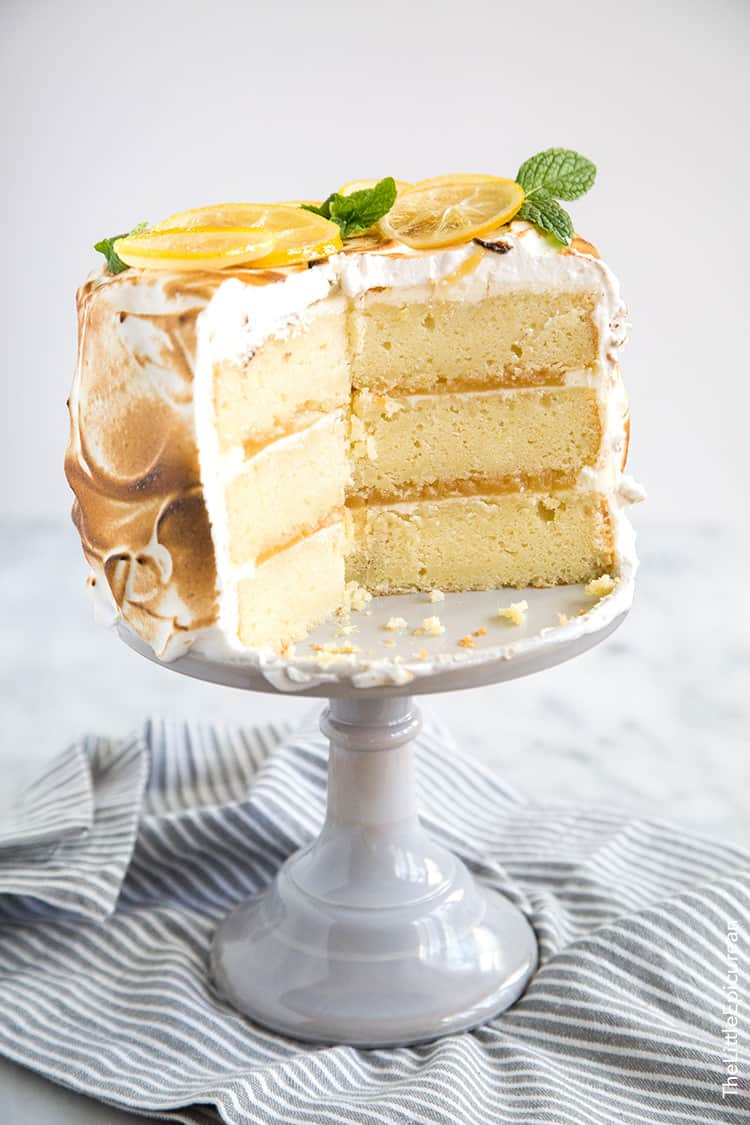 Lemon Meringue Pistachio Cake