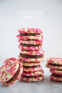 Confetti Cookie Sandwiches