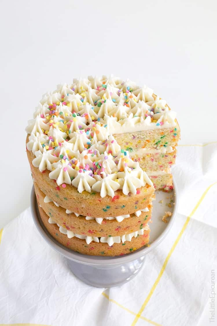 Coconut Confetti Cake With Coconut Buttercream The Little
