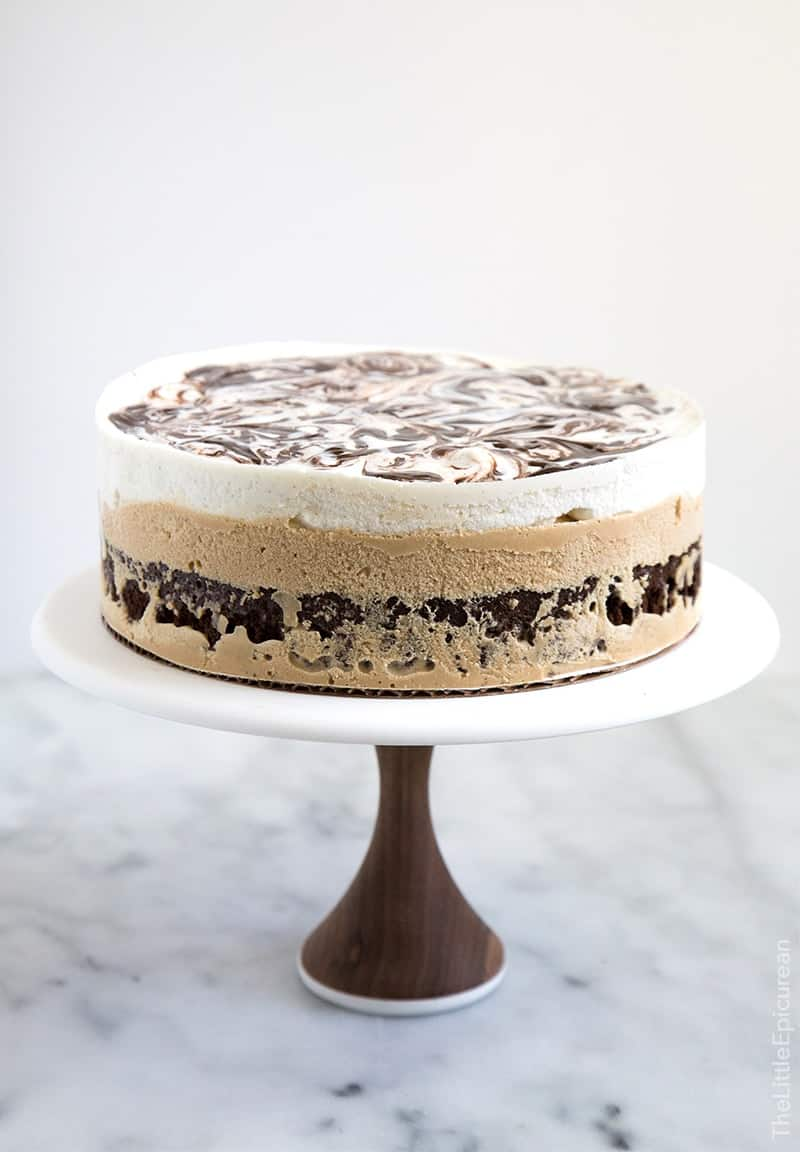 Coffee Ice Cream Cake The Little Epicurean