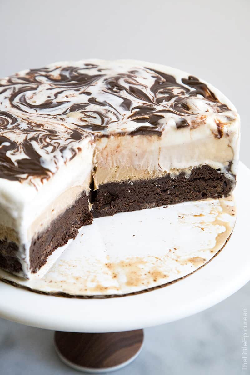 Coffee Ice Cream Cake - The Little Epicurean