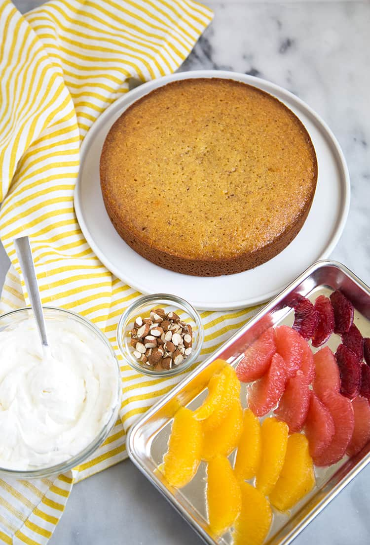 Almond Honey Cake with Citrus
