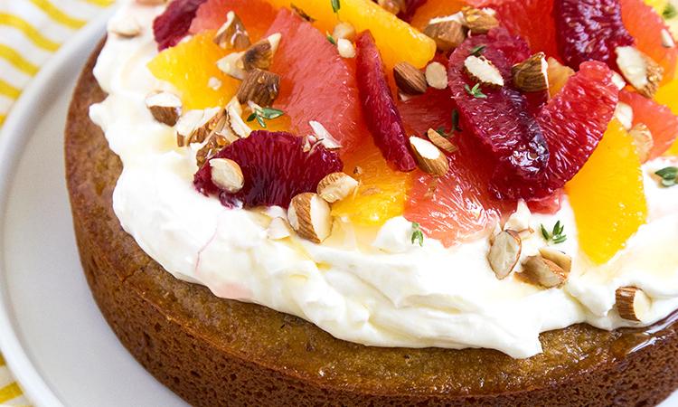 Almond Honey Cake with Citrus