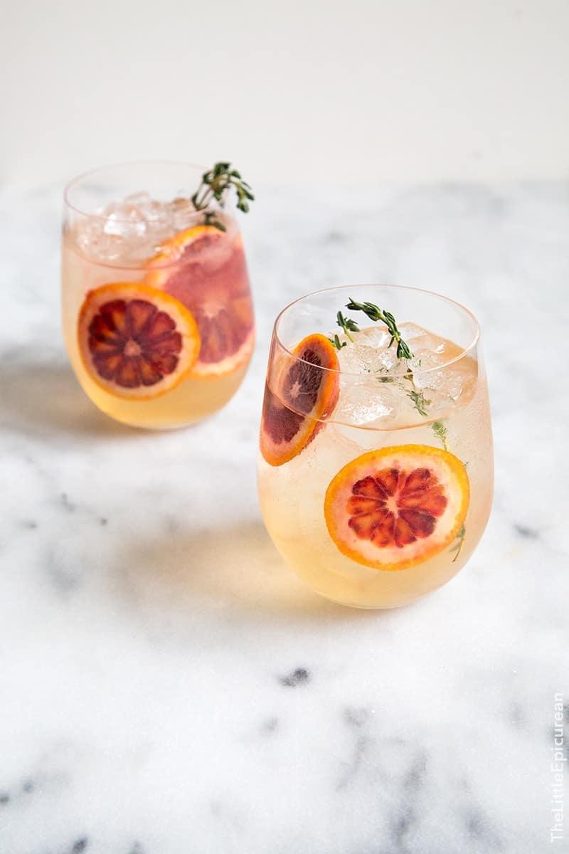 Blood Orange Elderflower Gin Cocktail