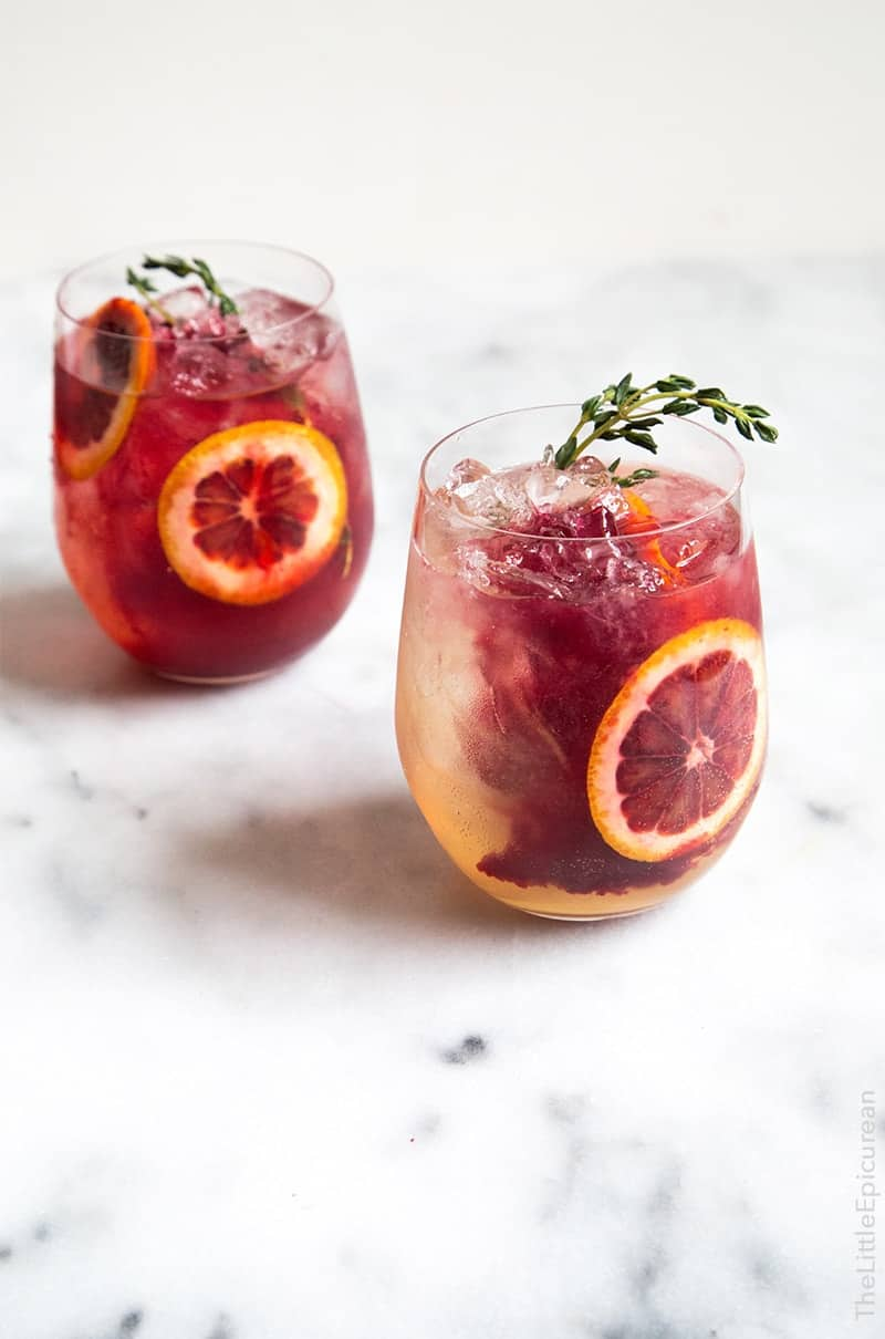Blood Orange Elderflower Gin Cocktail