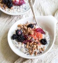 Chia Oatmeal Breakfast Bowl