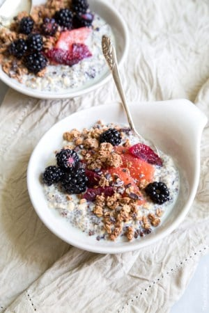 Chia Oatmeal Breakfast Bowl