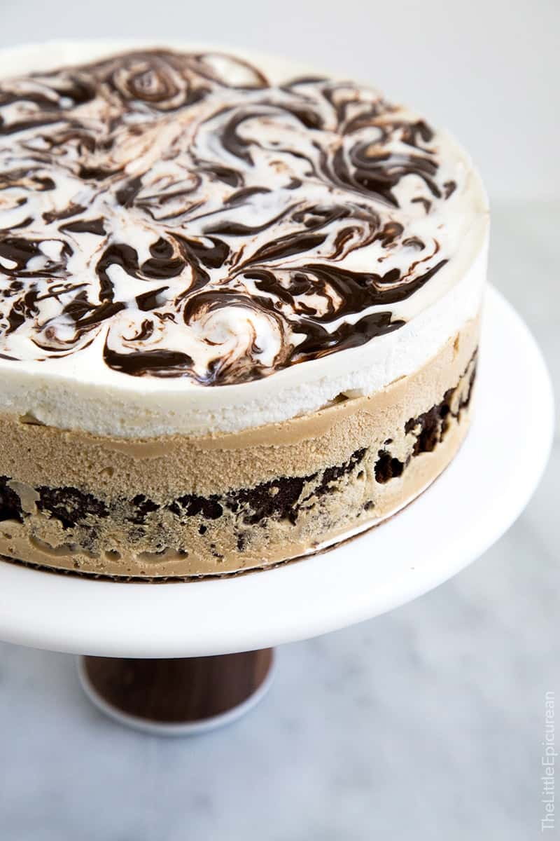 Brownie Ice Cream Layer Cake