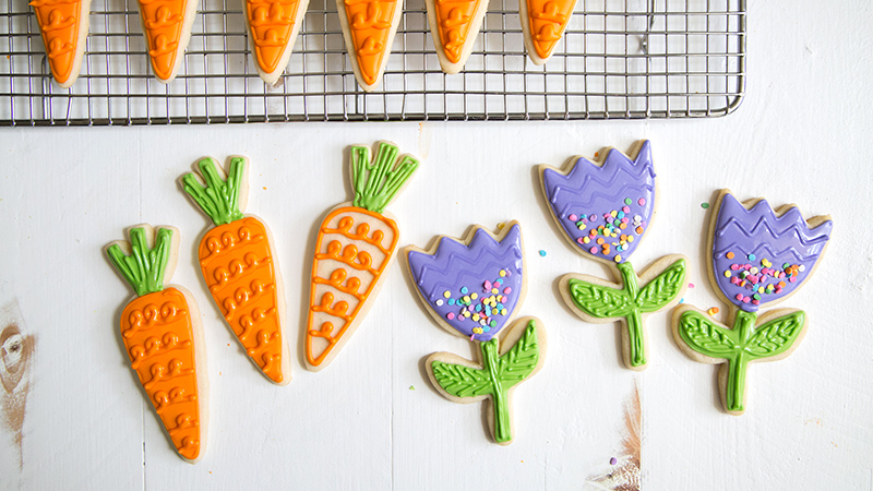 Spring Carrot Sugar Cookies