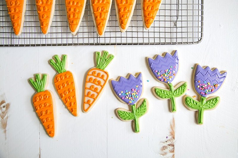 Spring Carrot Sugar Cookies