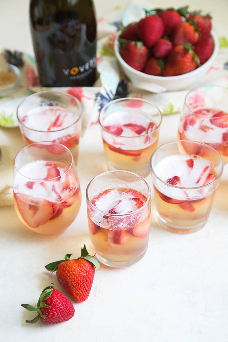 Strawberry Prosecco Jelly