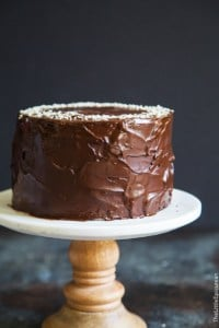 Tahini Chocolate Banana Cake