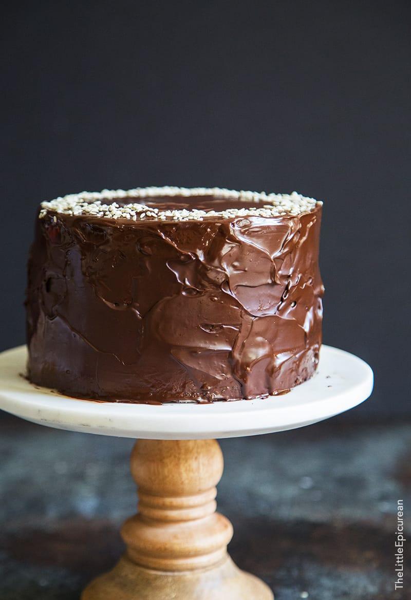 Tahini Chocolate Banana Cake The Little Epicurean
