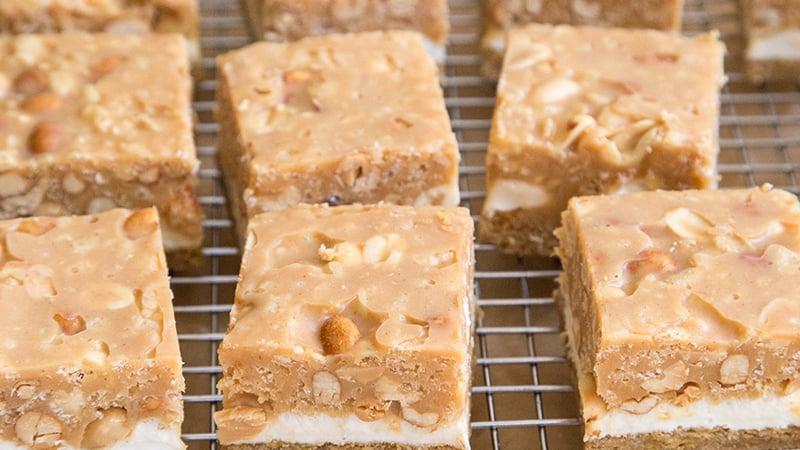 Chocolate Peanut Marshmallow Bars