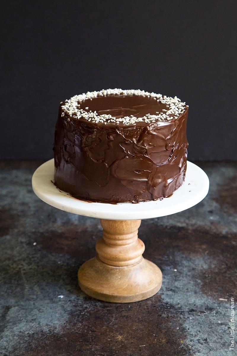 Tahini Chocolate Banana Cake