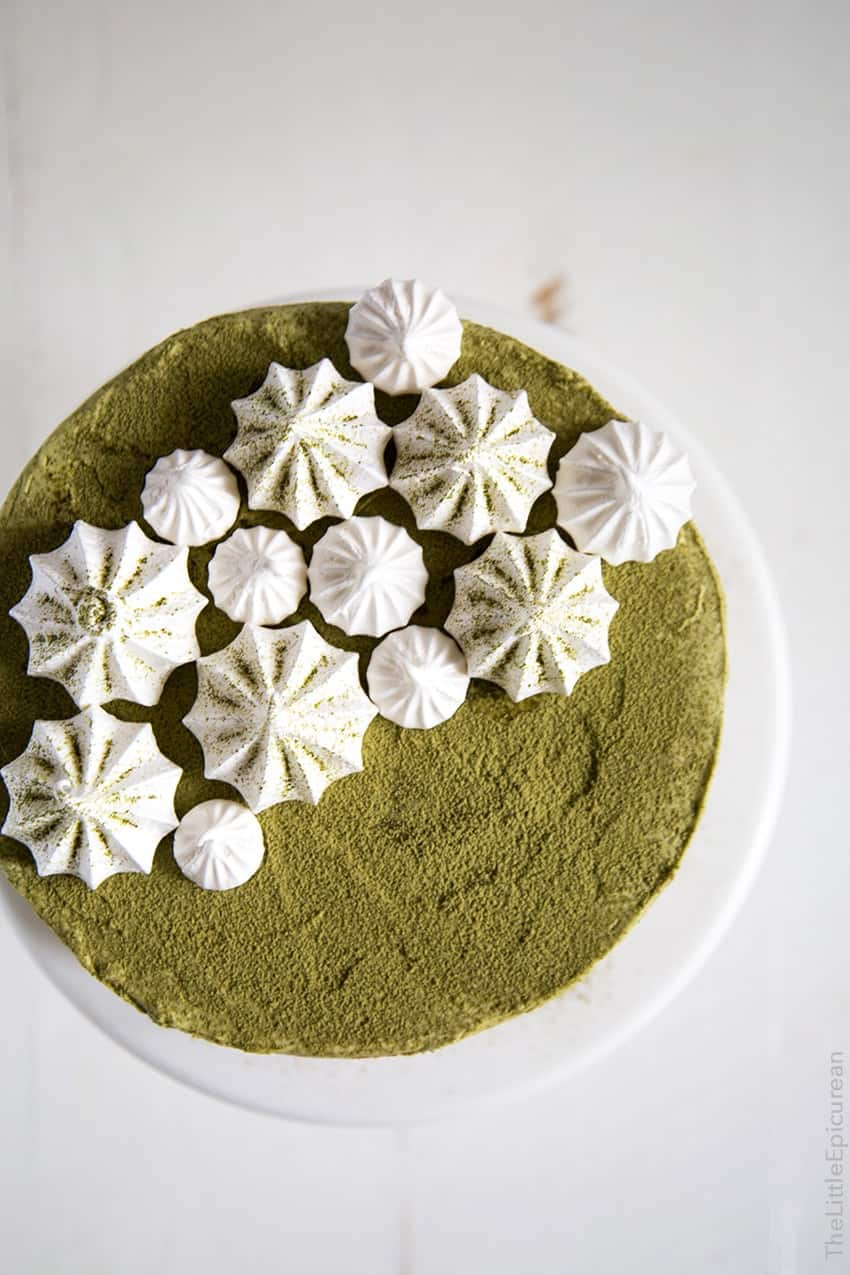 Matcha Red Bean Cake