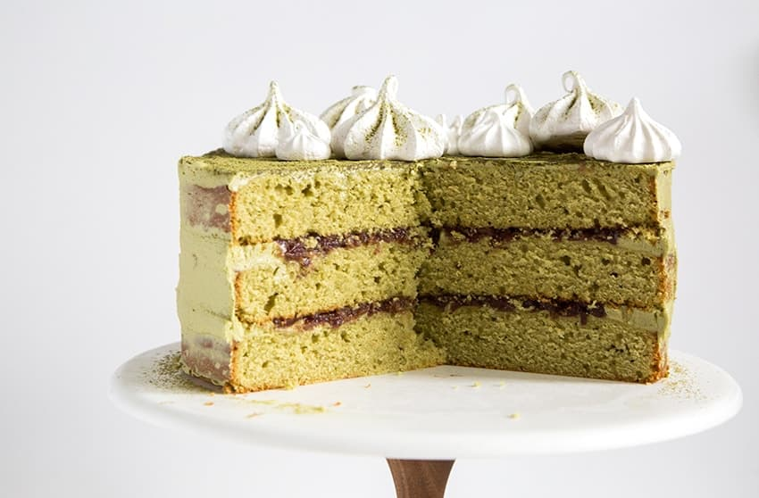 Red Bean Birthday Cake Matcha red bean cake - the little epicurean
