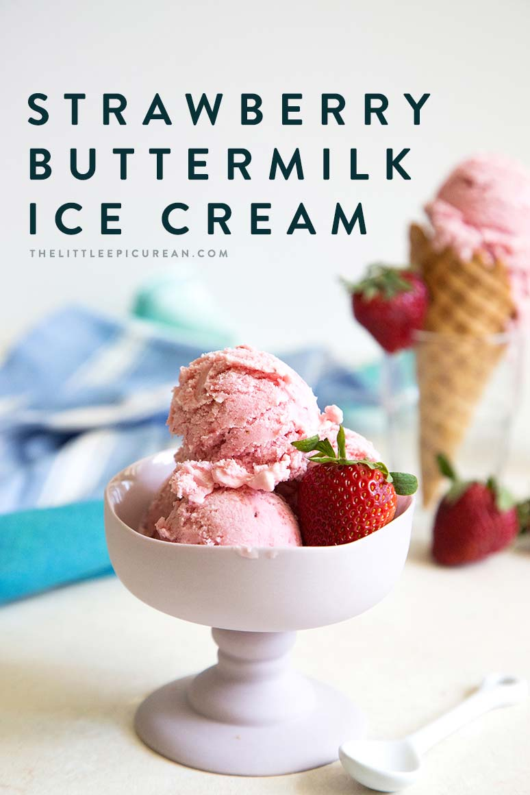 Fresh strawberry puree swirled into a creamy buttermilk mixture. A scoop of this strawberry buttermilk ice cream is a tasty way to welcome spring!