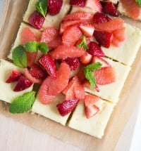 Grapefruit Strawberry Gooey Butter Bars
