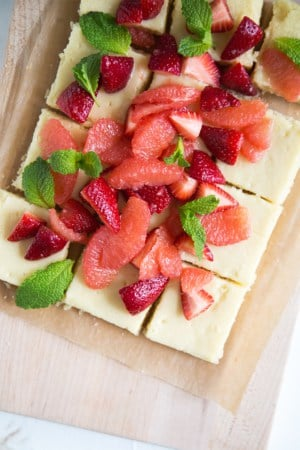Grapefruit Strawberry Gooey Butter Bars