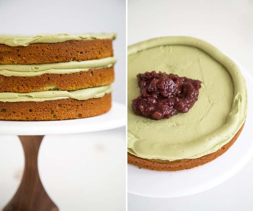 Vegan Red Bean Mochi Cake