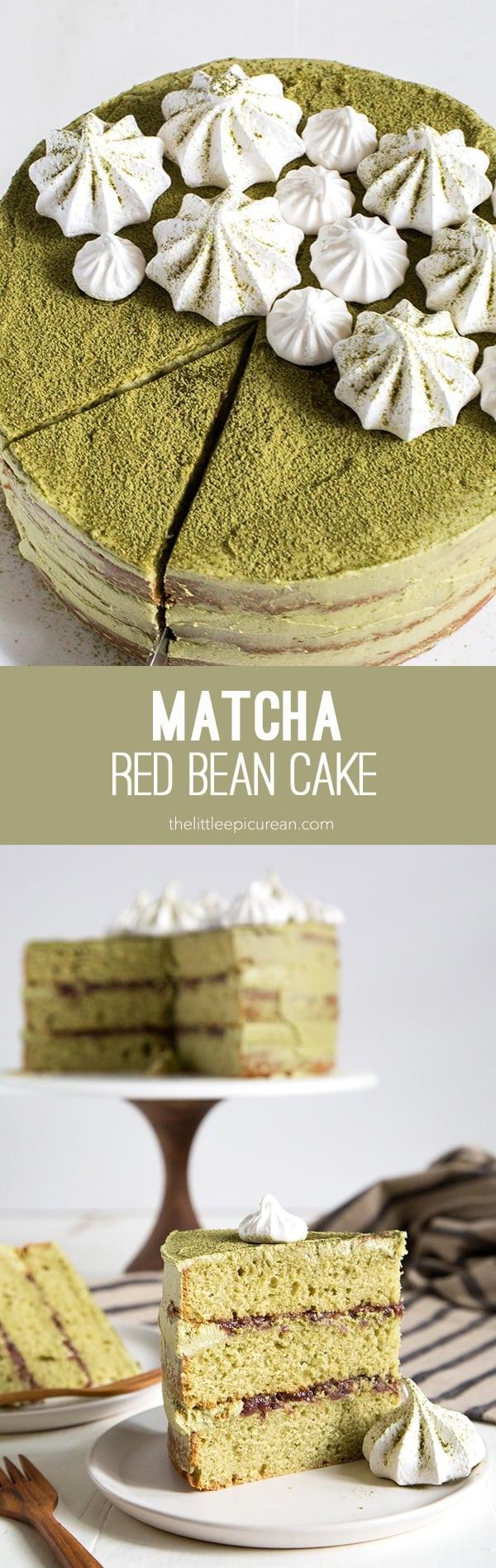 Matcha Red Bean Cake