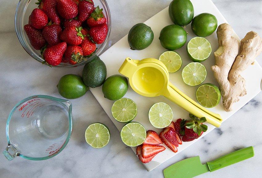 Strawberry Ginger Limeade