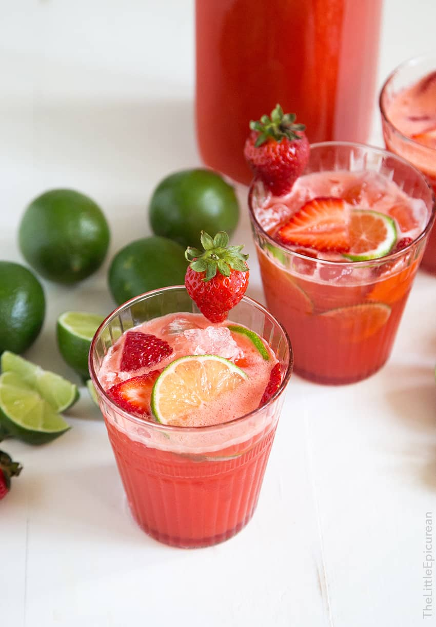 Strawberry Ginger Limeade