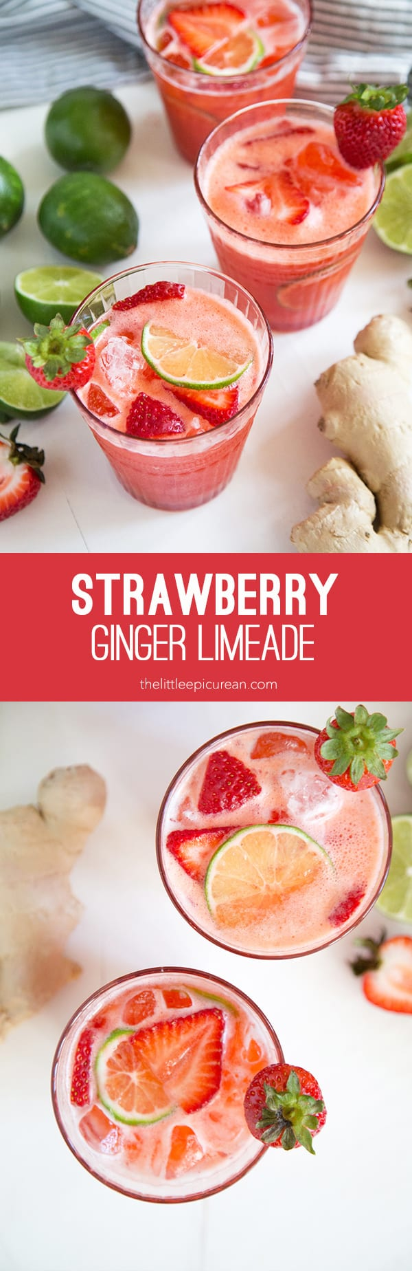 Strawberry Ginger Limeade - The Little Epicurean