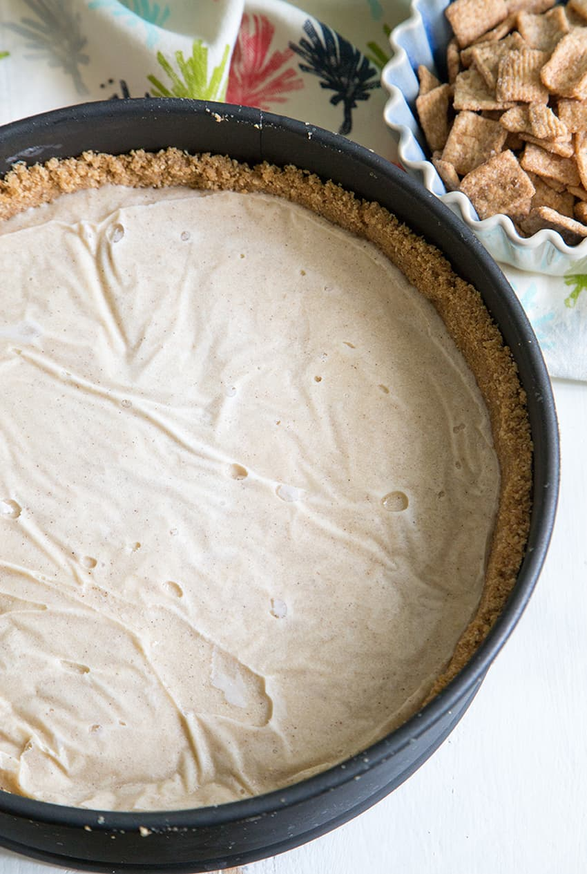 Cinnamon Toast Crunch Ice Cream Pie