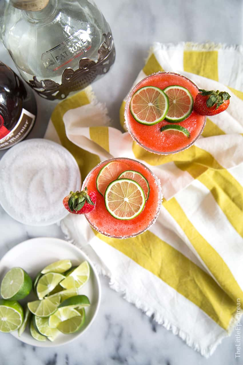 Frozen Strawberry Margarita - The Little Epicurean