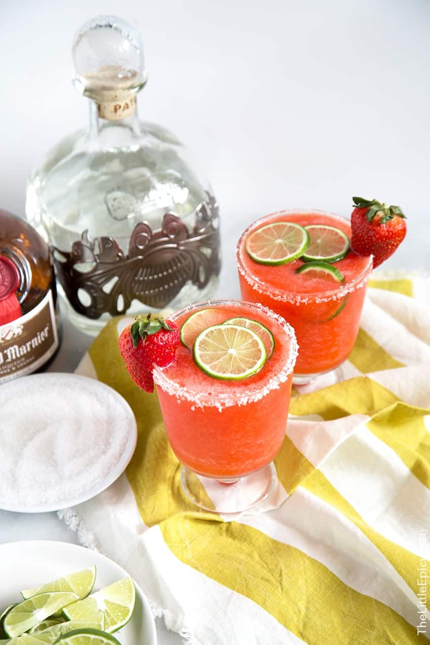 Frozen Strawberry Margarita The Little Epicurean