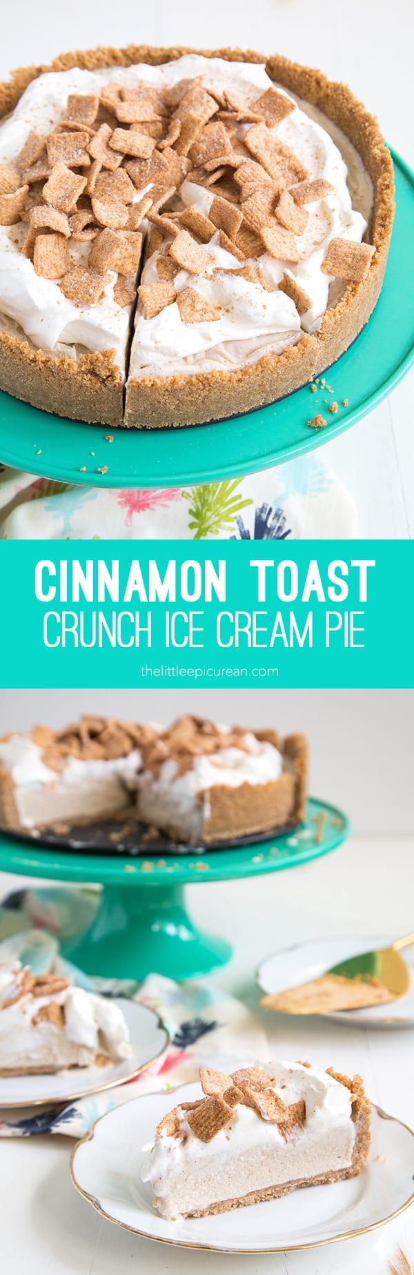 Cinnamon Toast Crunch Ice Cream Pie