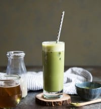 Iced Honey Matcha Soy Latte