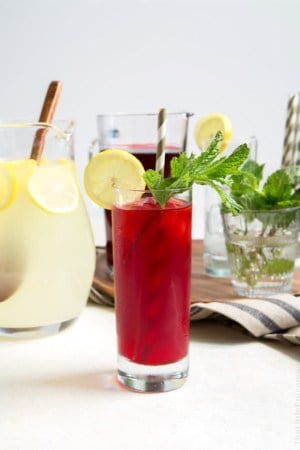 Mint Hibiscus Lemonade