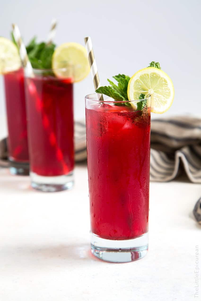 ... this mint hibiscus lemonade is ideal for spring and summer gatherings