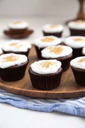 Vegan Chocolate Cupcakes with Whipped Coconut Cream
