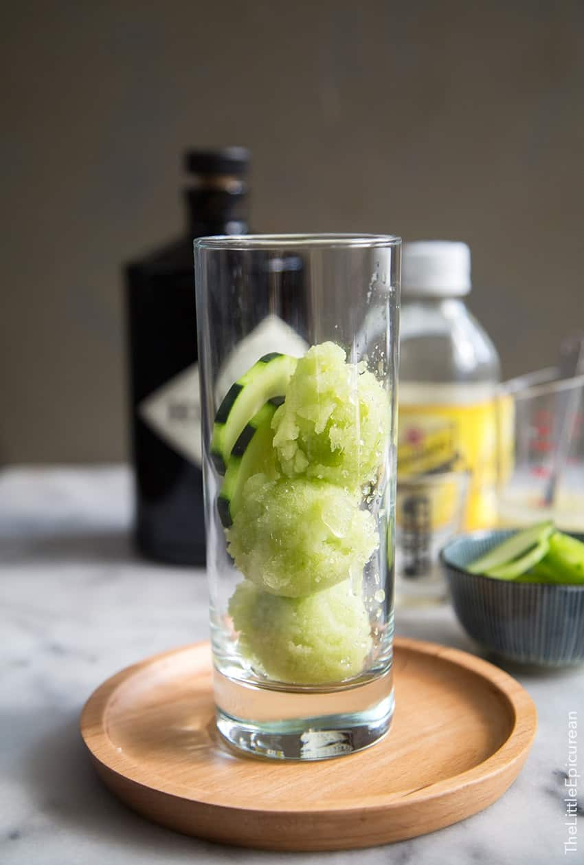 Cucumber Gin and Tonic Floats