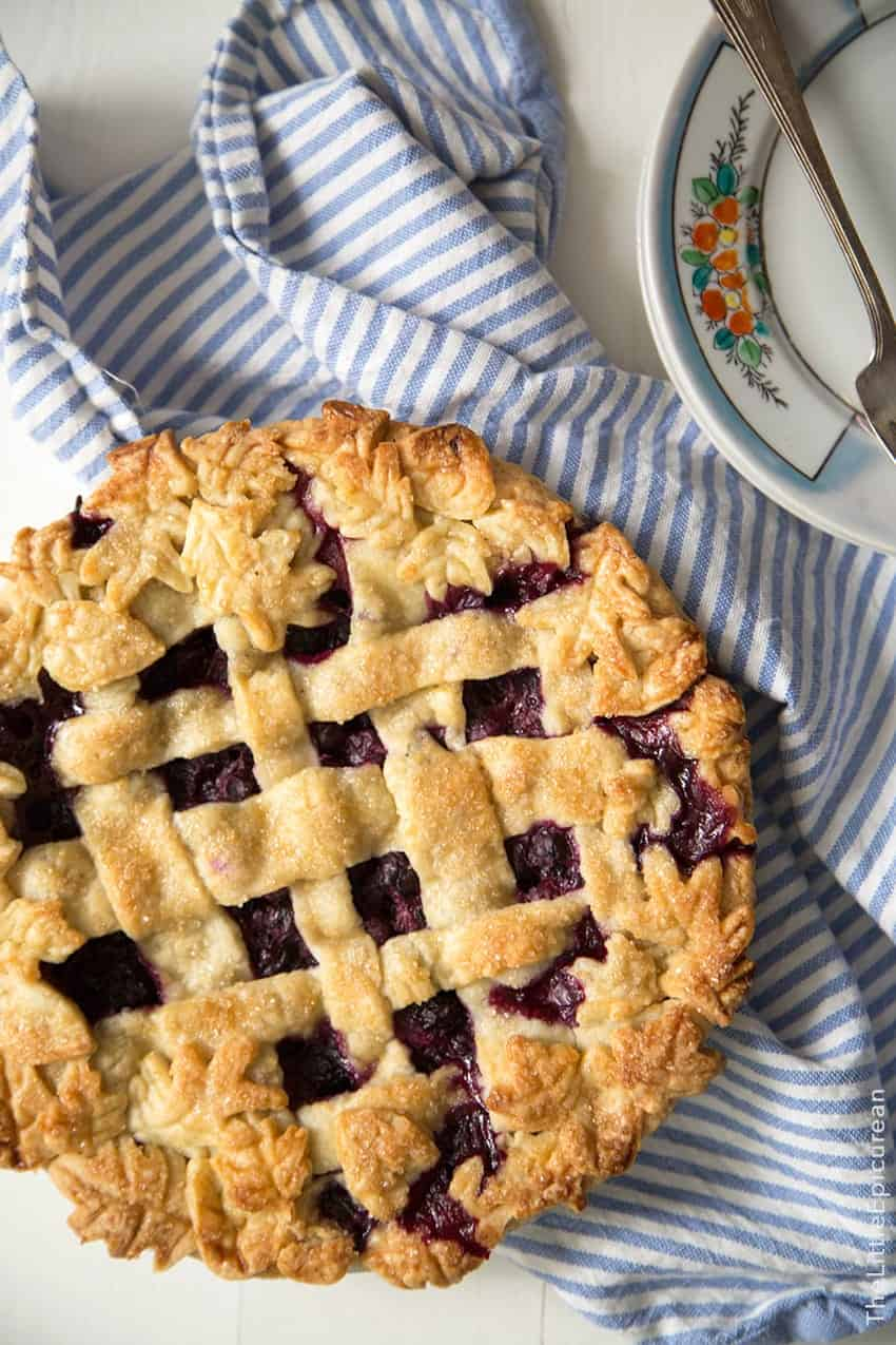 Ginger Blueberry Pie