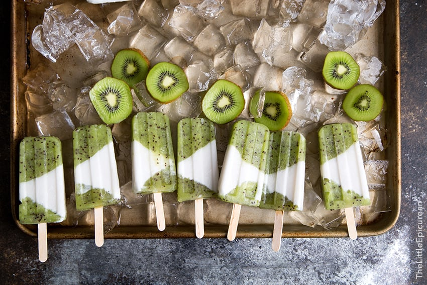 Kiwi Coconut Popsicles