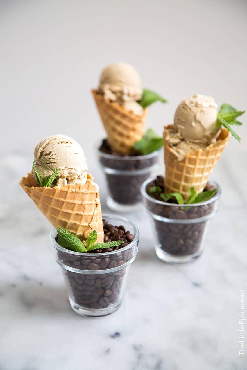 Mint Mojito Coffee Ice Cream The Little Epicurean
