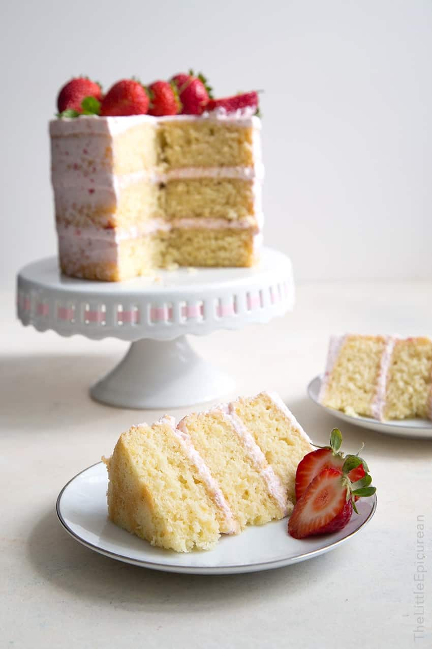 Strawberry Lemon Olive Oil Cake