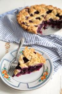 Ginger Blueberry Pie