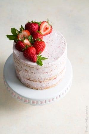 Strawberry Lemon Olive Oil Cake