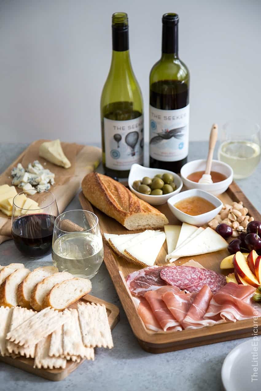 Meat and Cheese Board + Wine Pairing Tips & Meat and Cheese Board and Wine Pairing- The Little Epicurean