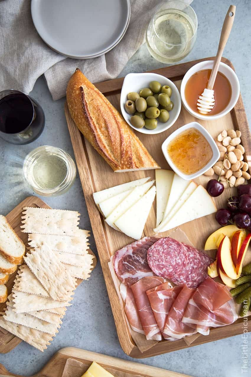 Meat and Cheese Board with Wine Pairing & Meat and Cheese Board and Wine Pairing- The Little Epicurean
